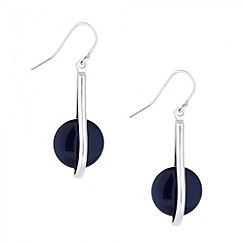 Betty Jackson.Black - Designer blue cateye drop earring