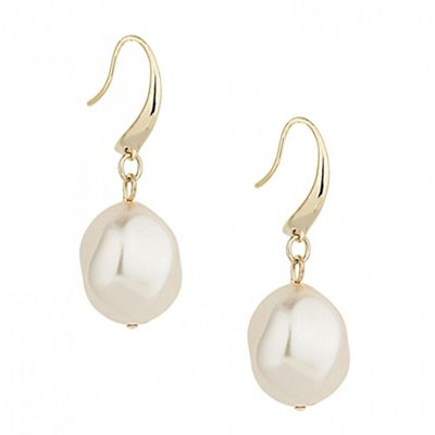 Betty Jackson.Black Designer baroque pearl earring - . -