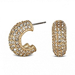 Betty Jackson.Black - Designer gold crystal half hoop earring