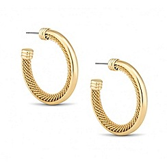 Betty Jackson.Black - Designer polished and mesh hoop earring