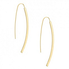 Betty Jackson.Black - Designer gold polished stick earring