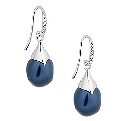 Betty Jackson.Black - Designer blue baroque pearl drop earring