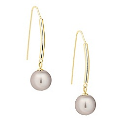 Betty Jackson.Black - Designer tubular mink pearl drop earring