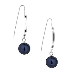 Betty Jackson.Black - Designer blue pearl stick drop earring