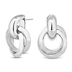 Betty Jackson.Black - Designer silver twist knot drop earring