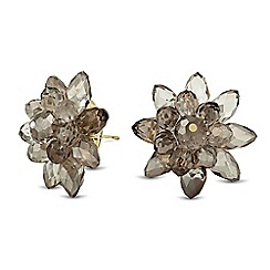 Betty Jackson.Black - Designer 3d grey flower stud earring