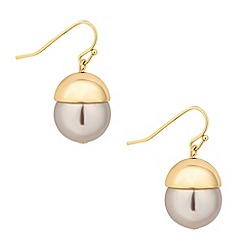 Betty Jackson.Black - Designer capped mink pearl drop earring