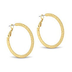 Betty Jackson.Black - Designer textured gold hoop earring