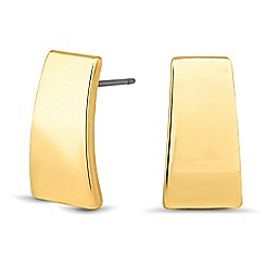 Betty Jackson.Black - Designer gold angular stud earring