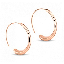 Betty Jackson.Black - Designer rose gold curve hoop earring