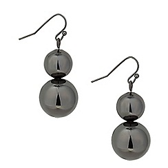 Betty Jackson.Black - Designer double ball drop earring
