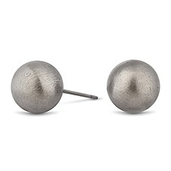 Betty Jackson.Black - Designer textured ball stud earring