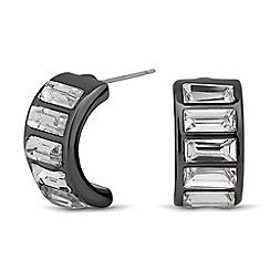 Betty Jackson.Black - Designer crystal hematite half hoop earring