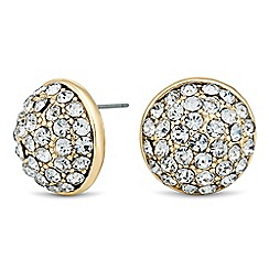 Betty Jackson.Black - Designer crystal embellished round stud earring