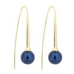Betty Jackson.Black - Designer blue pearl polished stick earring