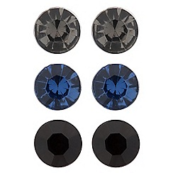 Betty Jackson.Black - Designer set of three stone stud earrings