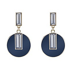 Betty Jackson.Black - Designer baguette encased blue drop earring