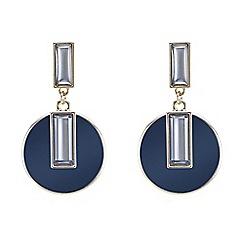 Betty Jackson.Black - Designer baguette encased blue drop earring