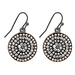 Betty Jackson.Black - Designer diamante and gold ball disc earring