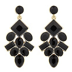 Betty Jackson.Black - Designer jet stone chandelier earring