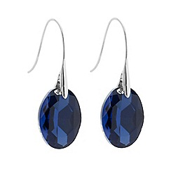 Betty Jackson.Black - Designer blue crystal oval stick drop earring