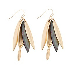 Betty Jackson.Black - Designer shell effect cluster drop earring