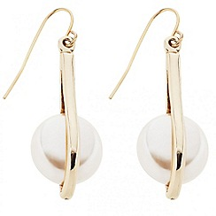 Betty Jackson.Black - Designer pearl encased stick drop earring