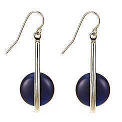 Betty Jackson.Black - Blue contemporary pearl drop earring