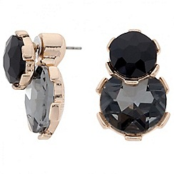 Betty Jackson.Black - Designer jet and grey double drop earring