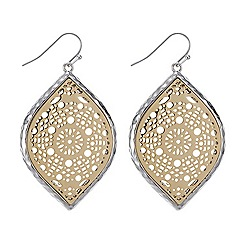 Betty Jackson.Black - Filigree navette earring