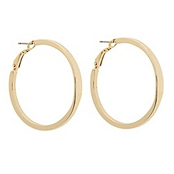 Betty Jackson.Black - Designer polished gold hoop earring