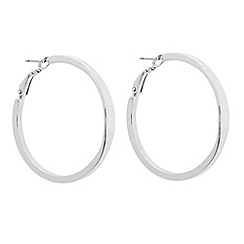Betty Jackson.Black - Designer polished silver hoop earring