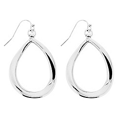 Betty Jackson.Black - Designer polished curved peardrop earring