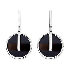 Betty Jackson.Black - Designer round jet enamel drop earring