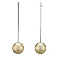Betty Jackson.Black - Designer metal ball stick earring
