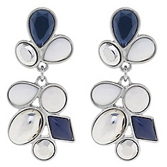 Betty Jackson.Black - Designer statement blue stone cluster earring