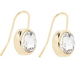 Betty Jackson.Black - Designer crystal encased round drop earring