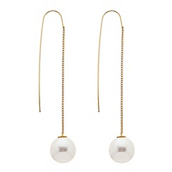 Betty Jackson.Black - Pearl chain thread thru earring