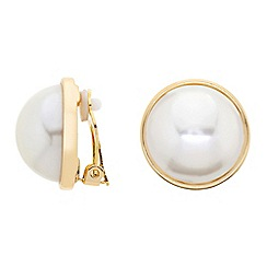 Betty Jackson.Black - Designer cream pearl clip on earring