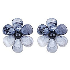 Betty Jackson.Black - Resin flower stud earring