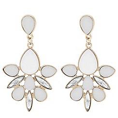 Betty Jackson.Black - Designer white stone cluster drop earring
