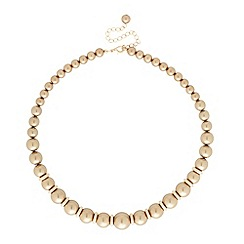 Betty Jackson.Black - Graduated polished gold pearl and rondel necklace