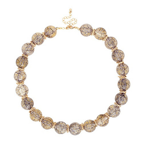 Betty Jackson.Black - Speckled bead and interlinked gold disc necklace