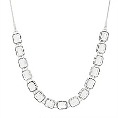 Betty Jackson.Black - Chunky crystal bezel set multi stone necklace