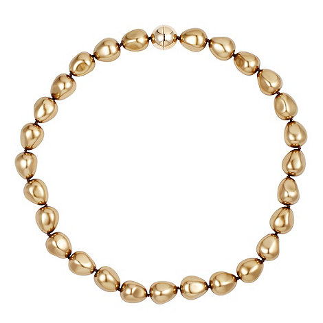 Betty Jackson.Black - Baroque style gold pearl magnetic necklace