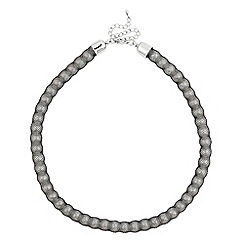 Betty Jackson.Black - Fabric covered pearl chain necklace
