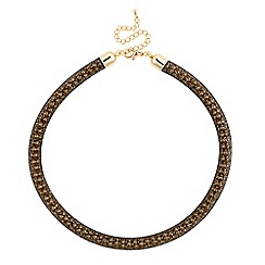 Betty Jackson.Black - Fabric covered gold chain necklace
