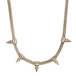 Betty Jackson.Black - Gold spike drop and mesh chain necklace