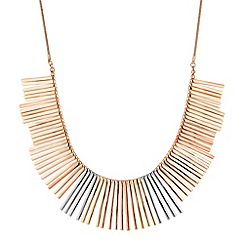 Betty Jackson.Black - Designer mixed metal spike drop necklace