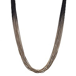 Betty Jackson.Black - Designer jet and gold slinky chain short necklace